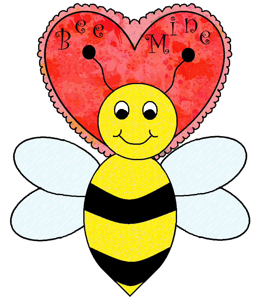 Clipart bee valentines day, Clipart bee valentines day Transparent.