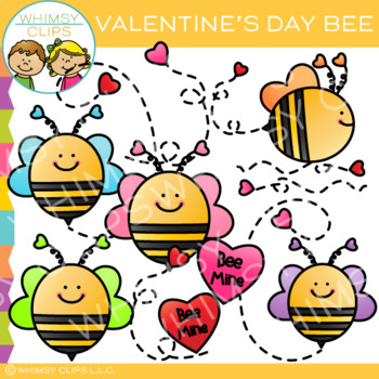 Free Bee Valentine Clip Art.