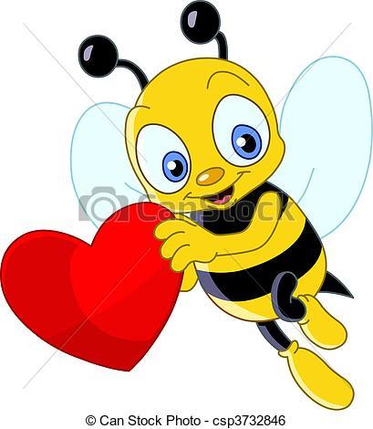 Cute bee valentine.