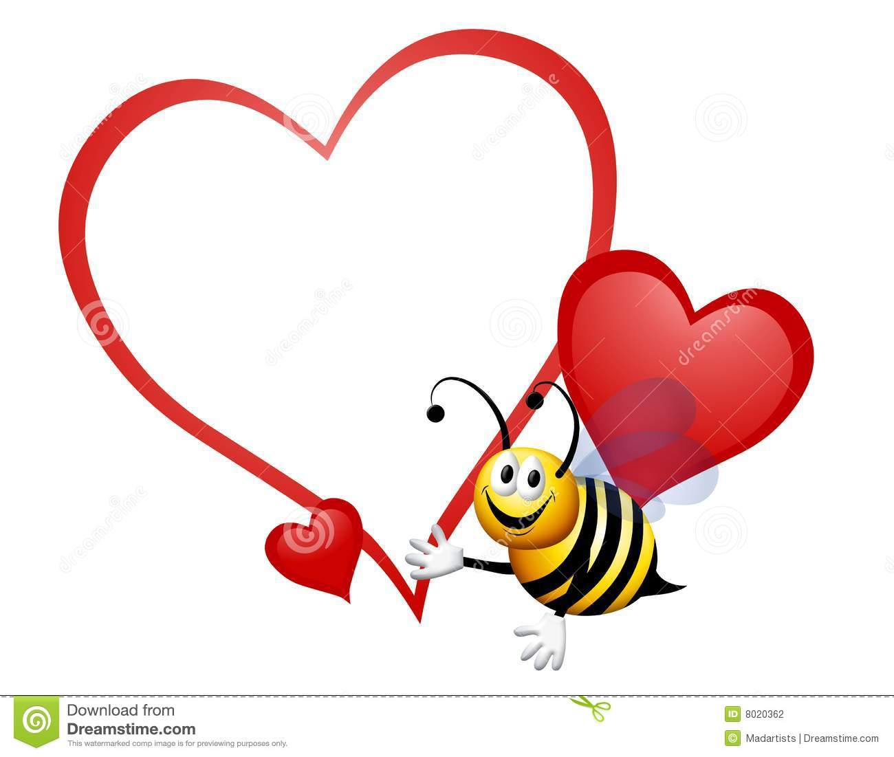 Valentine Bumble Bee Clipart.