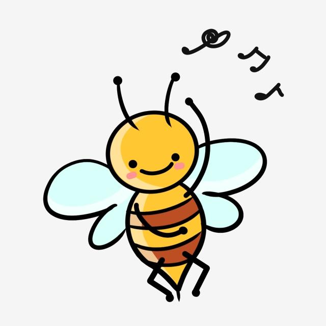 Cartoon Style Dancing Bee, Wings, Cartoon Bee PNG Transparent.