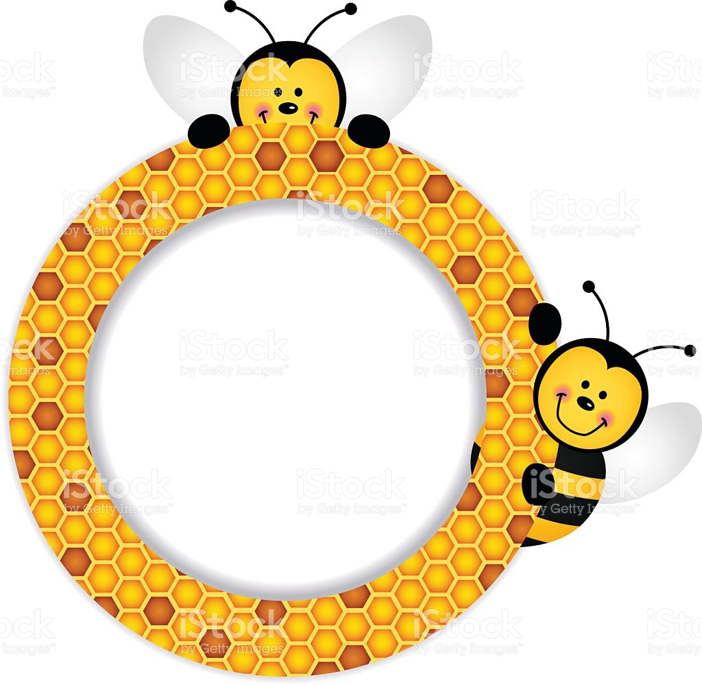 Bee Clipart Frame.