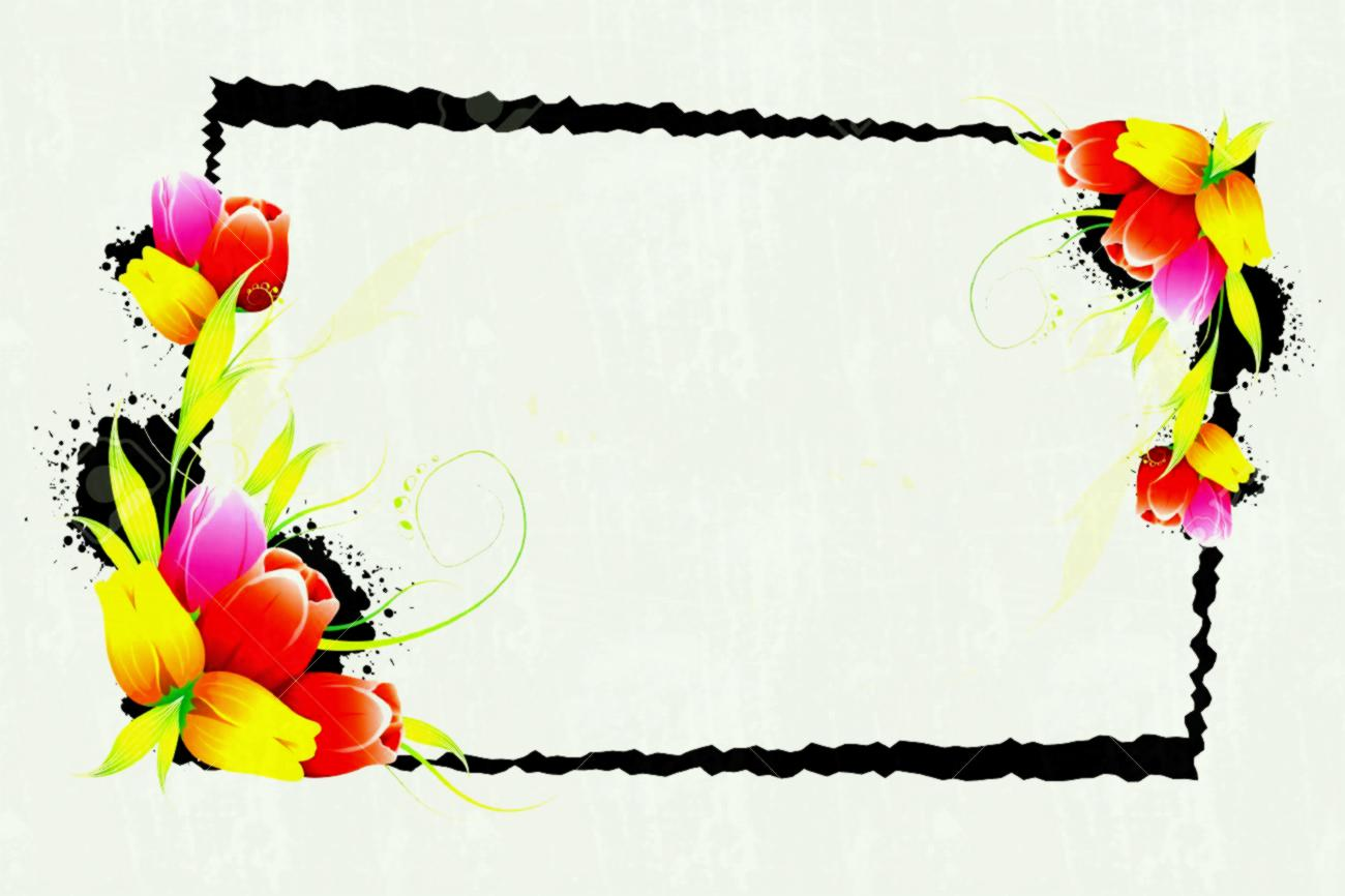 305 Flower Borders free clipart.