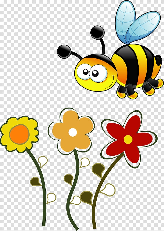 Flower Fly transparent background PNG cliparts free download.