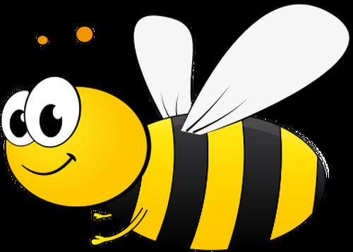 Cartoon bee image.