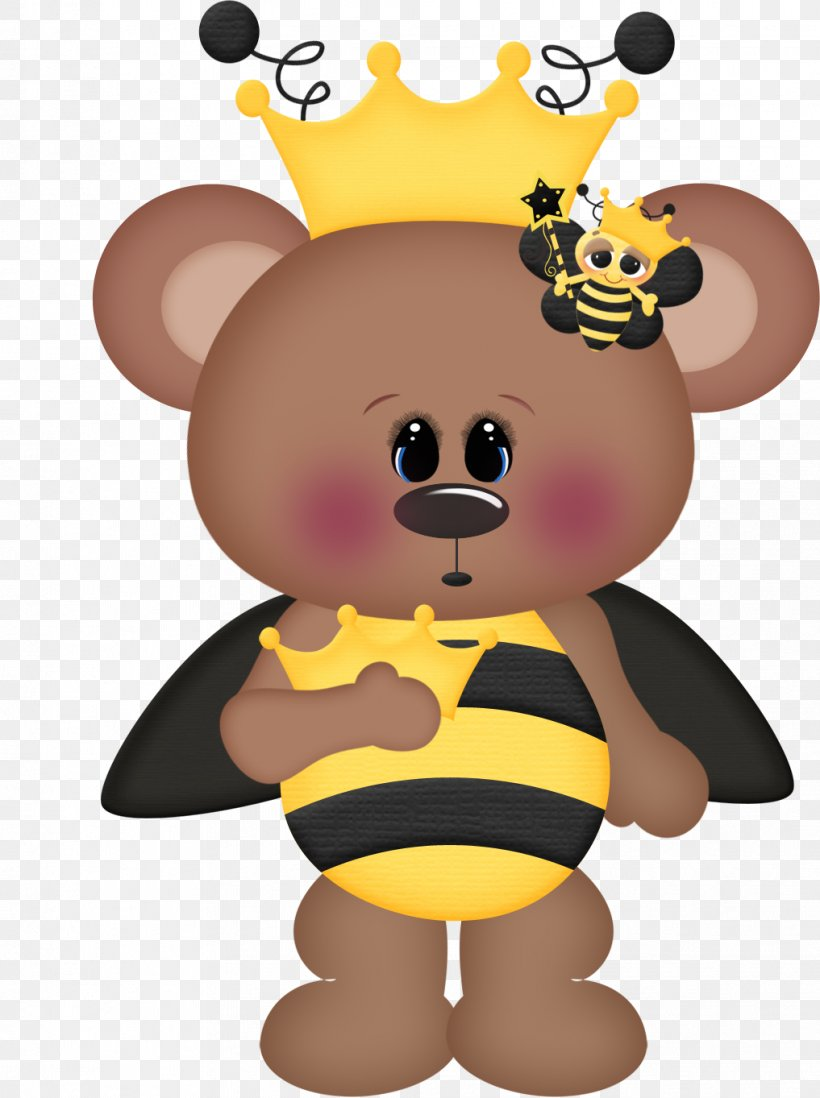 Bee Bear Drawing Clip Art, PNG, 1017x1363px, Watercolor.