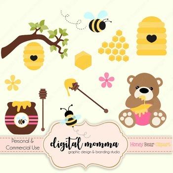 Honey Bee Bear Clipart.