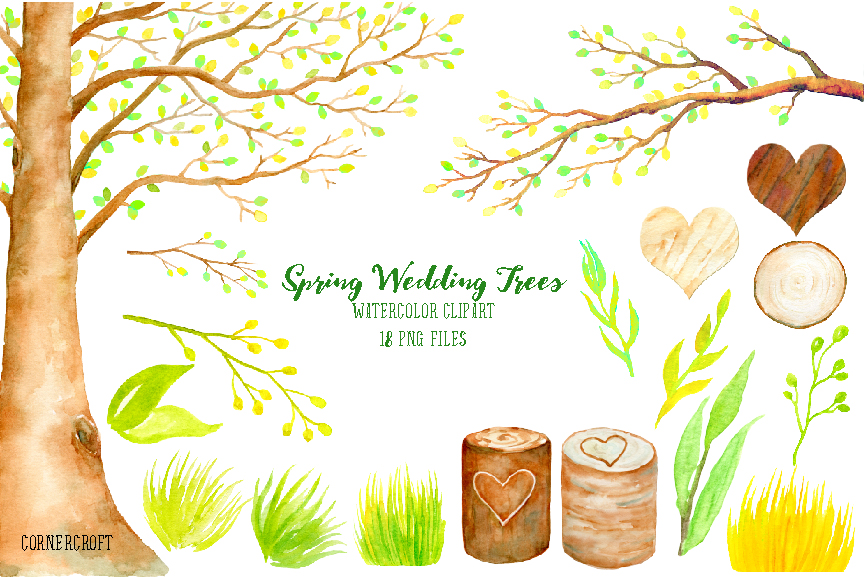 Wedding Tree Clipart Spring Beech by Cornercroft.