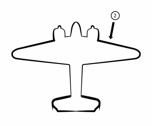Goodrich Raytheon Beechcraft 18 De.