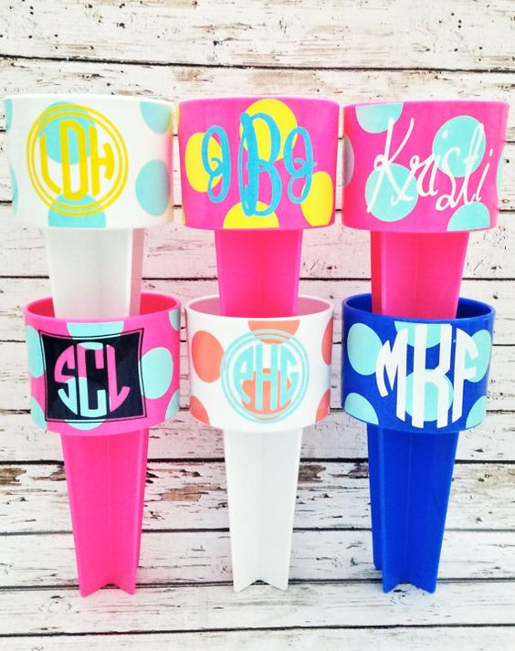 Personalized Beach Spikers by monkeyseeboutique on Etsy, $12.00.