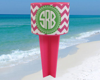 Items similar to Personalized Monogram Beach Spike Beverage Cup.