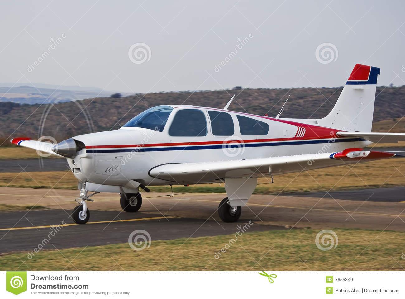 Beechcraft Bonanza Stock Photo.