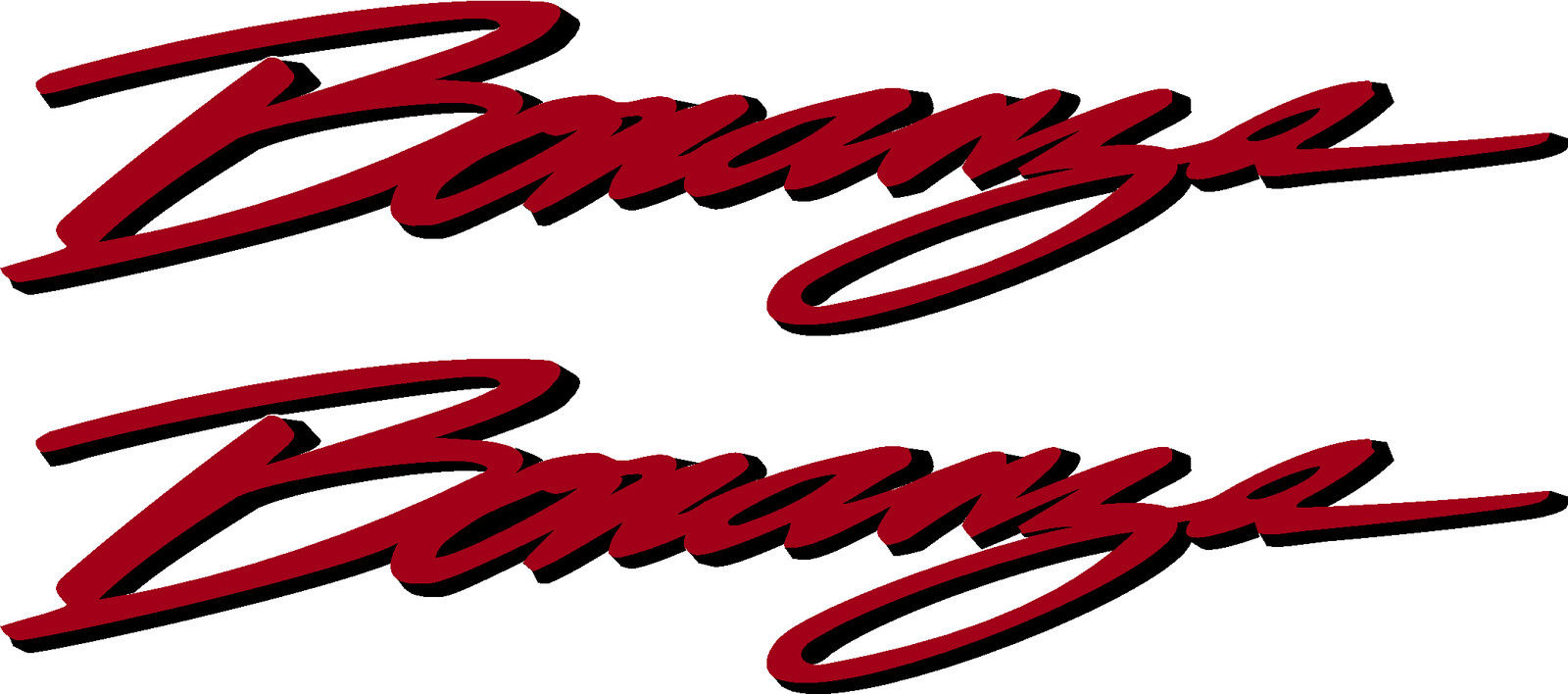 Beechcraft Bonanza Script Pair (2) Logo Decal.