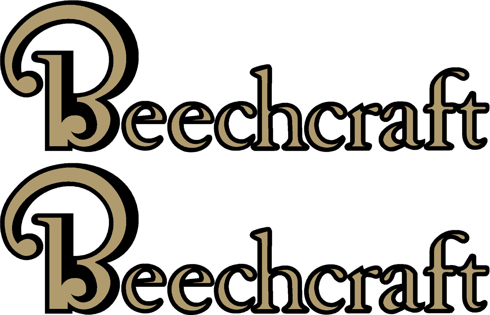 Beechcraft Logo Decal New Style PAIR (2).