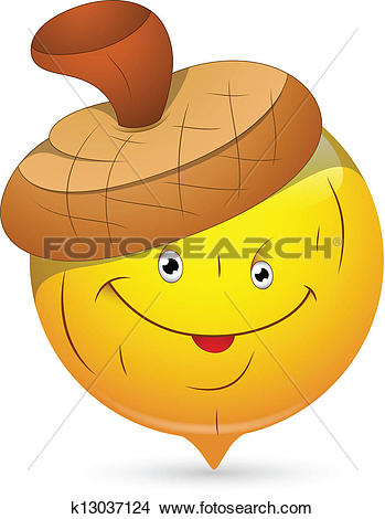 Clipart of Beechnut Smiley Character Face k13037124.
