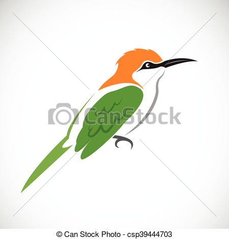 Vector Clipart of Vector of bird on white background. Green Bee.