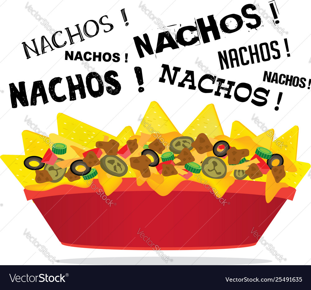 Loaded cheese nacho with meat and jalapeno.