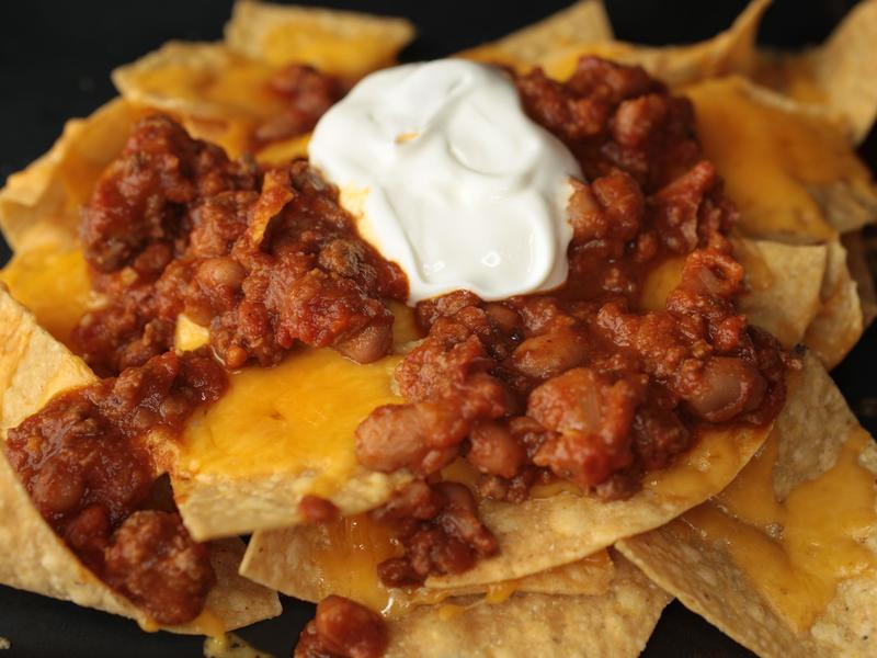 Easy Cheese Nachos.