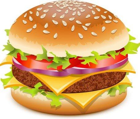Beef Burger Clip Art, Vector Beef Burger.