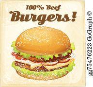 Beef Burger Clip Art.