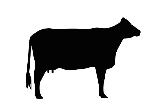 Beef Cow Black Clipart.
