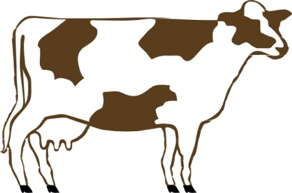 Beef cows clipart.