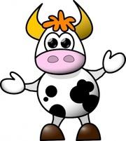 Cow Clip Art, Vector Cow.