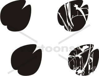Cow footprint clipart.