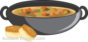 Clip Art of a Bowl of Beef Stew.