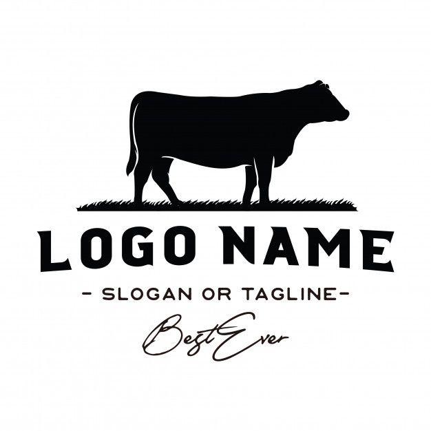 Vintage cattle / beef logo design inspiration vector Premium.