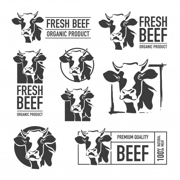 Set of beef logo Vector.