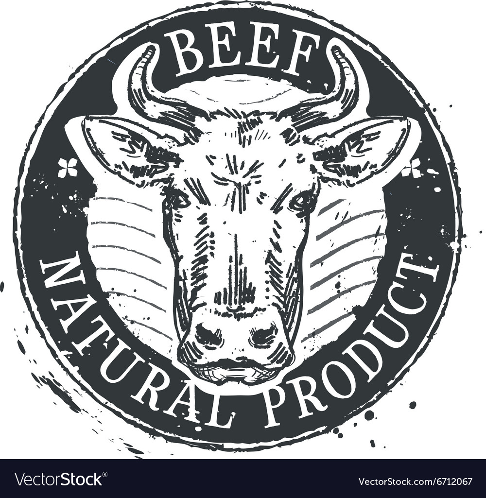 Cow logo design template beef or cattle.