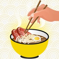 Beef noodle Vector Image.