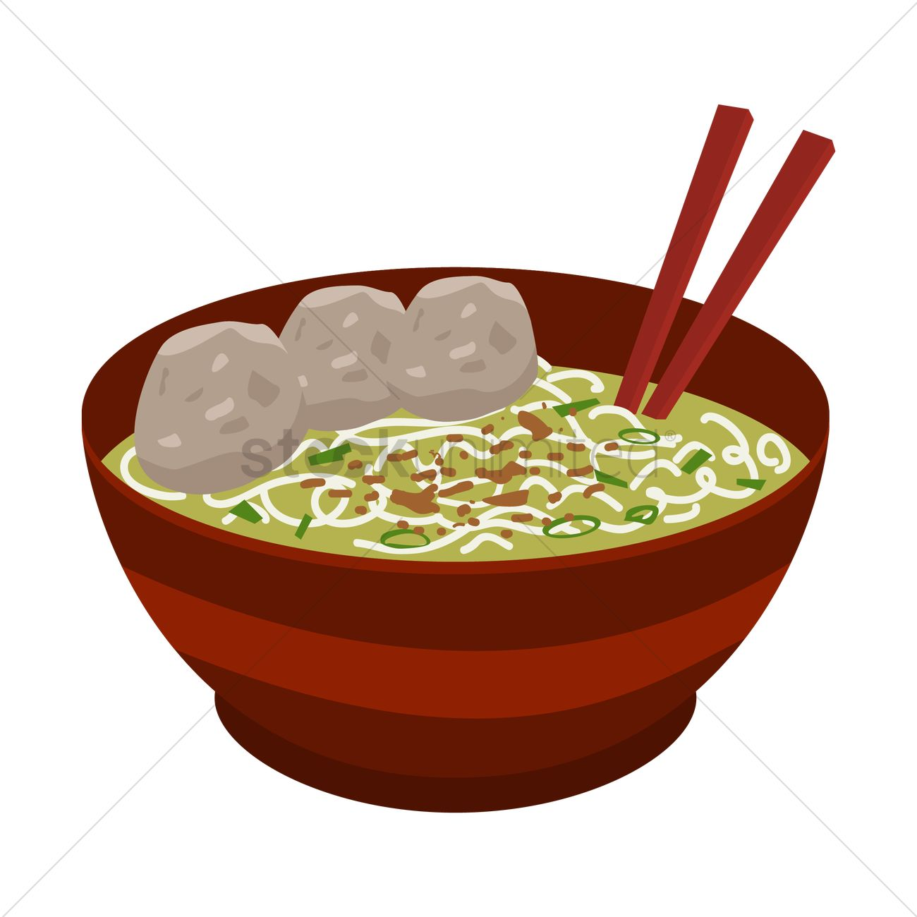 Beef and Noodles Clip Art.