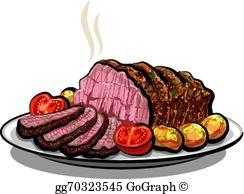Roast Beef Clip Art.