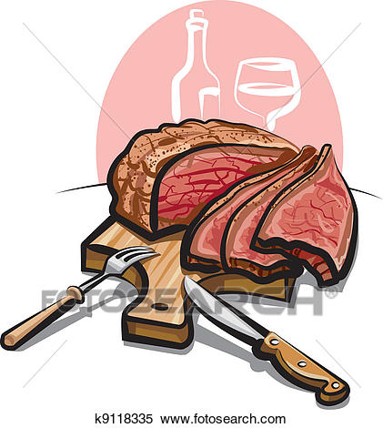 Roast beef Clipart.