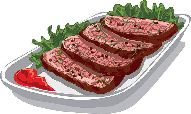 Best Roast Beef Slices Illustrations, Royalty.