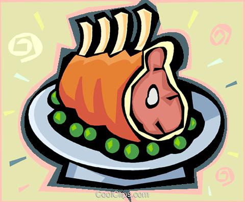 Roast beef Royalty Free Vector Clip Art illustration.