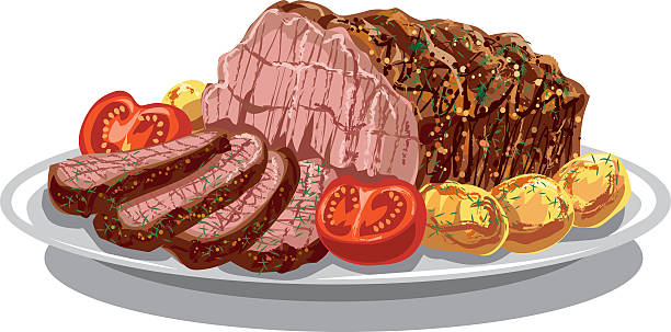 Best Roast Beef Illustrations, Royalty.