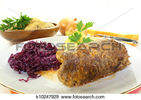 Stock Photograph of Beef roulade k10247929.
