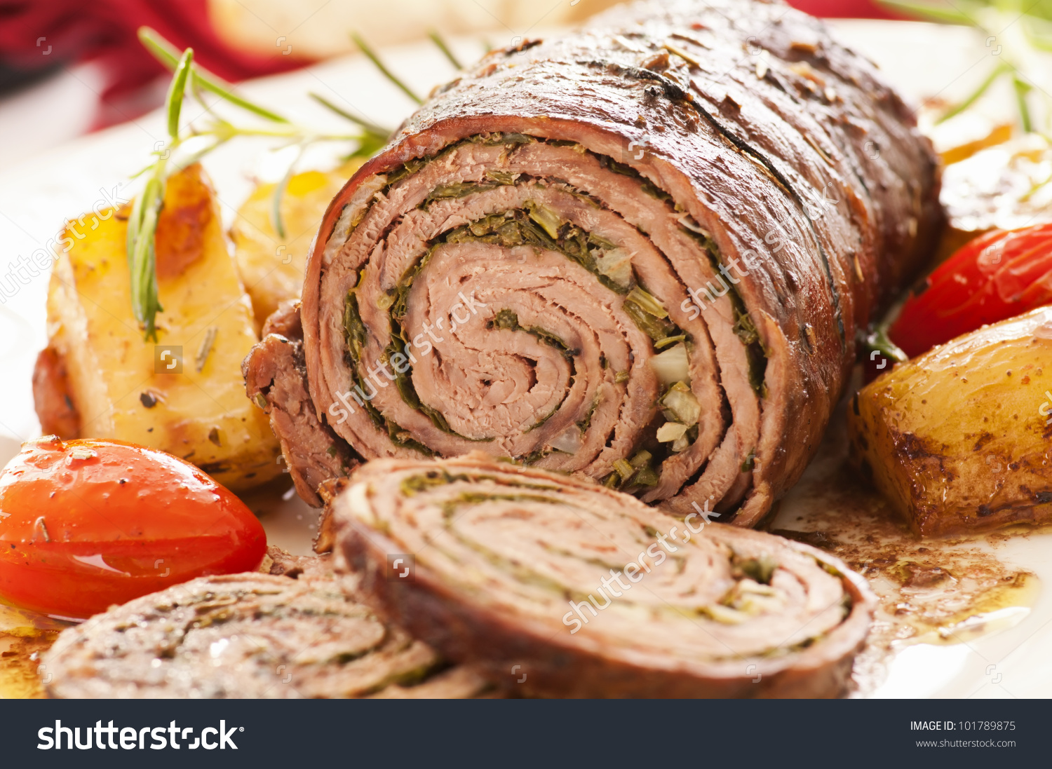 Roulade With Roasted Vegetables Stock Photo 101789875 : Shutterstock.