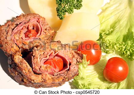 Stock Photography of Beef roulade.