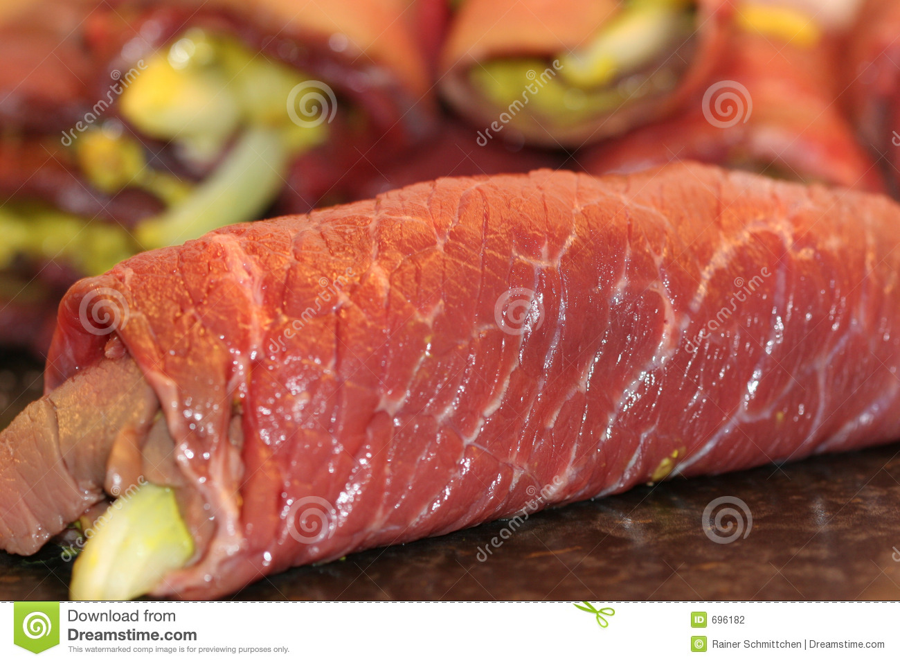Beef Roulade Stock Photography.