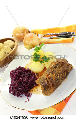 Stock Photography of Beef roulade k10247930.