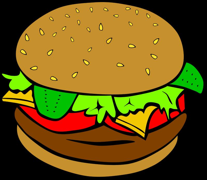 Burger clip art.