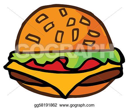 Beefburger clipart #8
