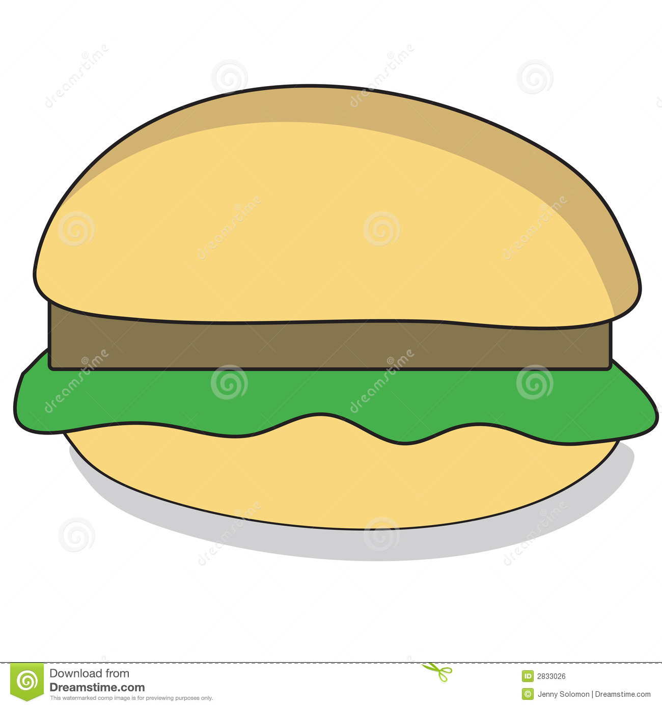 Cartoon Beefburger Royalty Free Stock Image.