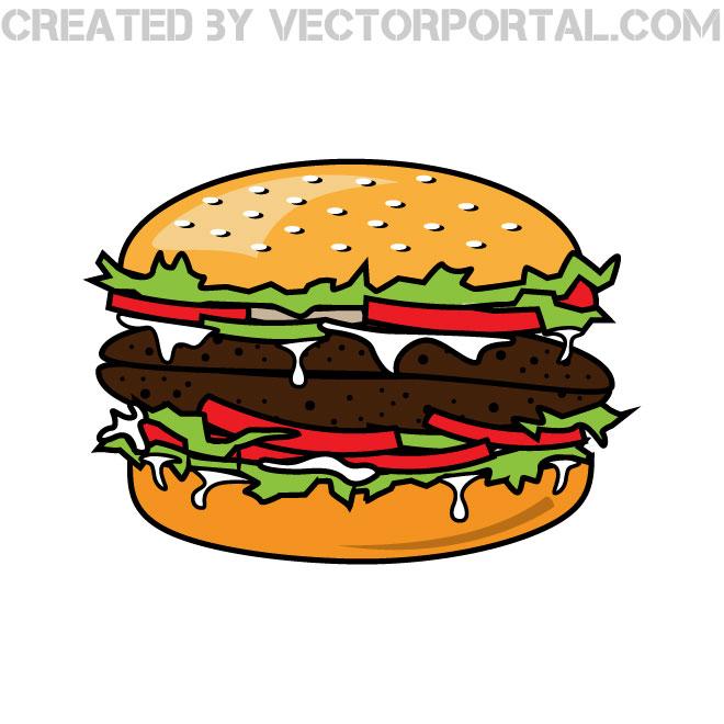 hamburger vector clip art.