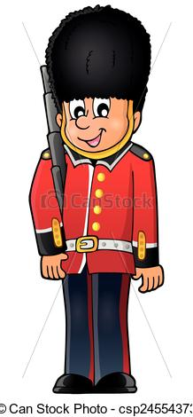 Vectors Illustration of Happy Beefeater guard.