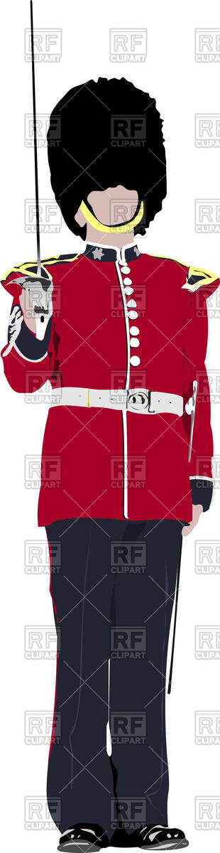 Colored silhouette of beefeater Vector Image #53994.
